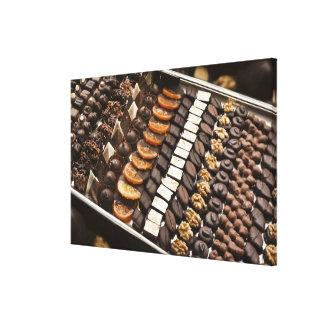 Variety of Artisanal Chocolate Pralines Canvas Print