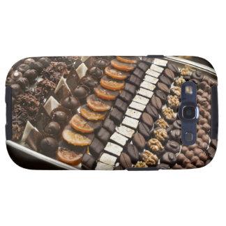 Variety of Artisanal Chocolate Pralines Galaxy SIII Covers