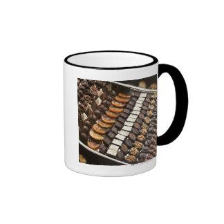 Variety of Artisanal Chocolate Pralines Ringer Coffee Mug