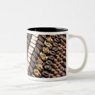 Variety of Artisanal Chocolate Pralines Two-Tone Coffee Mug