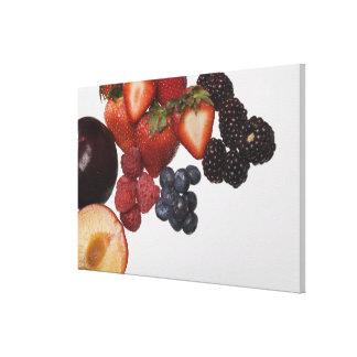Variety of berries canvas print