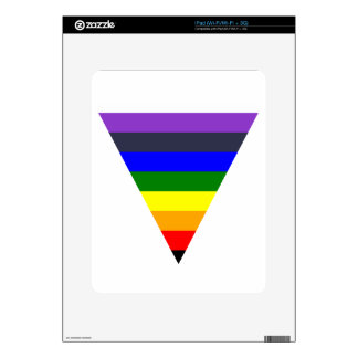Variety of Colors Triangle Cone White to Black Decal For iPad