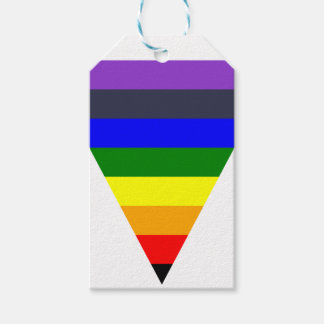 Variety of Colors Triangle Cone White to Black Gift Tags