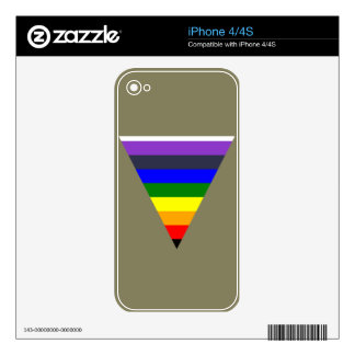 Variety of Colors Triangle Cone White to Black iPhone 4 Skin