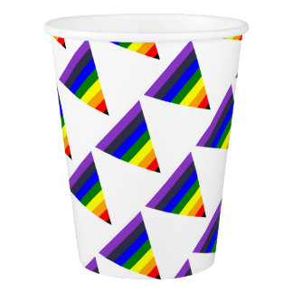 Variety of Colors Triangle Cone White to Black Paper Cup