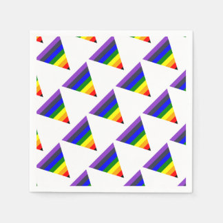 Variety of Colors Triangle Cone White to Black Paper Napkin