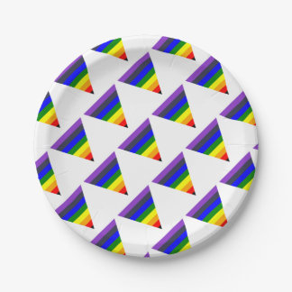 Variety of Colors Triangle Cone White to Black Paper Plate