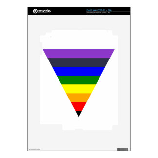 Variety of Colors Triangle Cone White to Black Skin For The iPad 2