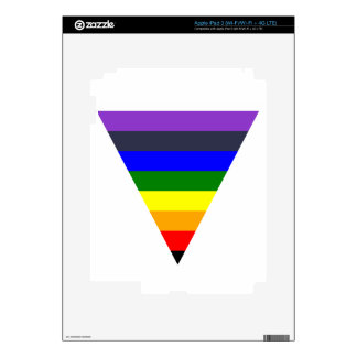 Variety of Colors Triangle Cone White to Black Skins For iPad 3