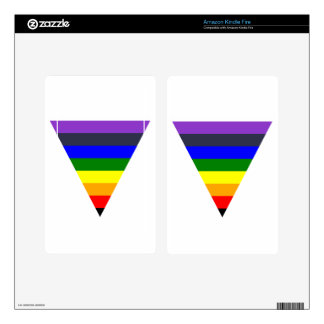 Variety of Colors Triangle Cone White to Black Skins For Kindle Fire