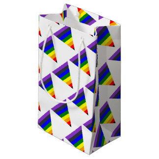 Variety of Colors Triangle Cone White to Black Small Gift Bag