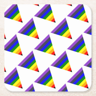 Variety of Colors Triangle Cone White to Black Square Paper Coaster