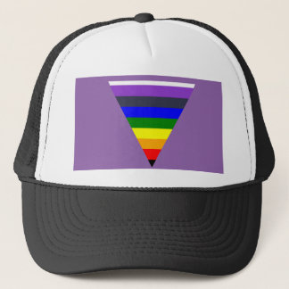 Variety of Colors Triangle Cone White to Black Trucker Hat