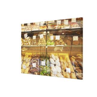 Variety of cookies in display case canvas print