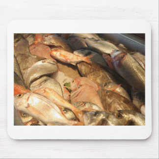Variety of Fresh Fish Seafood on Ice Mouse Pad