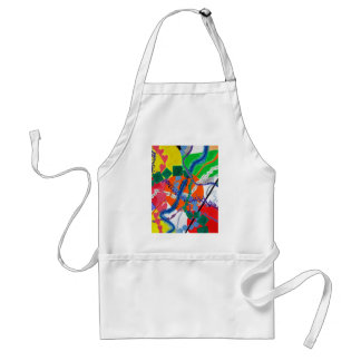 Variety of Paths Abstract Painting Adult Apron
