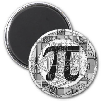 Variety of Pi Day Symbols Rounds 2 Inch Round Magnet