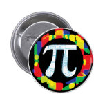Variety of Pi Day Symbols Rounds Button