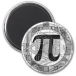 Variety of Pi Day Symbols Rounds Fridge Magnet