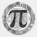 Variety of Pi Day Symbols Rounds Round Sticker