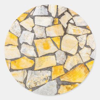 Variety of stones brickwork or masonry classic round sticker