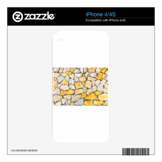 Variety of stones brickwork or masonry decal for the iPhone 4S