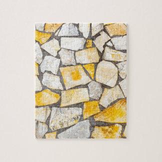 Variety of stones brickwork or masonry jigsaw puzzle