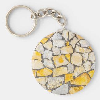 Variety of stones brickwork or masonry keychain