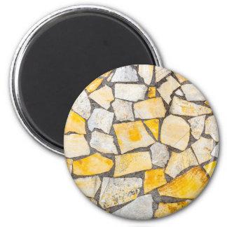Variety of stones brickwork or masonry magnet