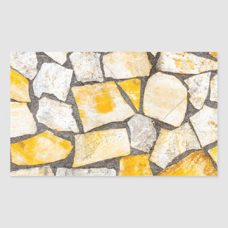 Variety of stones brickwork or masonry rectangular sticker