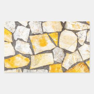 Variety of stones brickwork or masonry rectangular sticker