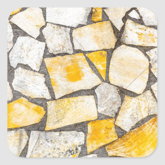 Variety of stones brickwork or masonry square sticker