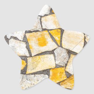 Variety of stones brickwork or masonry star sticker