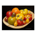 Variety of tomatoes postcard