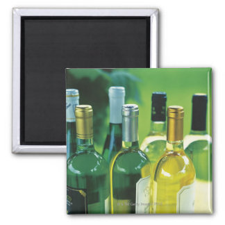 Variety of wine bottles 2 inch square magnet