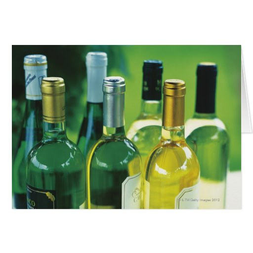 Variety of wine bottles cards