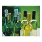 Variety of wine bottles poster
