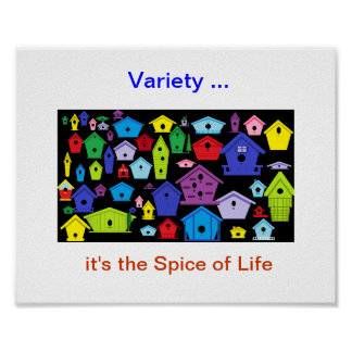 """""""Variety-Spice of Life Poster"""