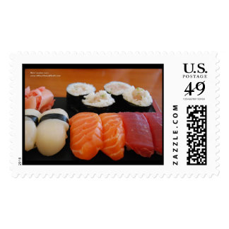 Variety Sushi Plate USPS Postage Stamps