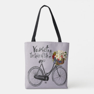 Variety the spice of life bike Grey tote bag