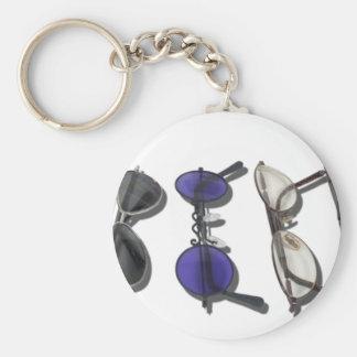 VarietyColorfulGlasses082611 Basic Round Button Keychain