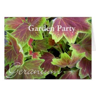 Varigated Geranium Notecard, Garden Party Card