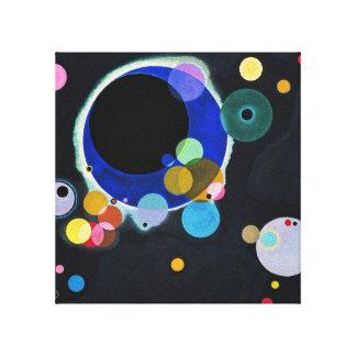 Varios círculos impresión en tela