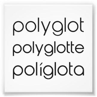 Varios idiomas de Polyglotte Polyglota del Fotografia