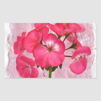 Various and useful objects with flowers vintage rectangular sticker