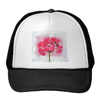 Various and useful objects with flowers vintage trucker hat