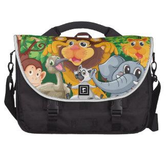 various animals commuter bag