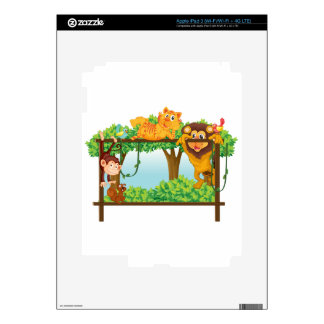 various animals decals for iPad 3