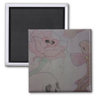 Various art 2 inch square magnet