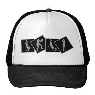 Various basketball shots design trucker hat